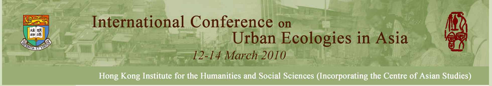 CFP of Interest: Ecologies of Urbanism in Asia II: Cities, Towns, and the Places of Nature