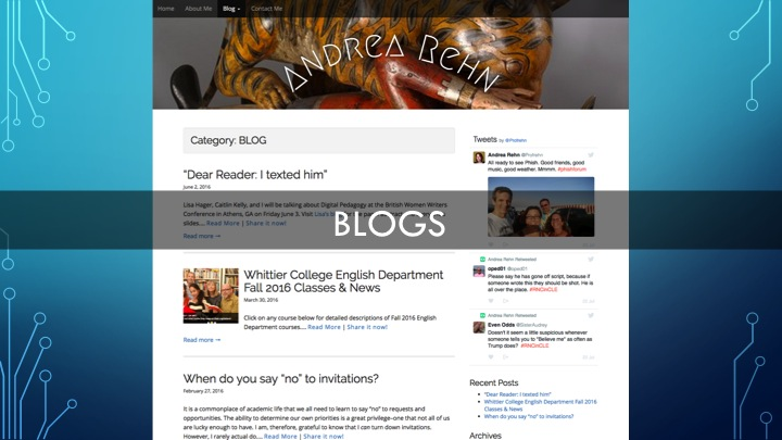 Screenshot Andrea Rehn's Blog